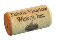 A wine cork from Thistle Meadow Winery